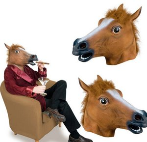 Latex Full Face Head Horse Halloween Kids Adult Animal Masquerade Party Mask