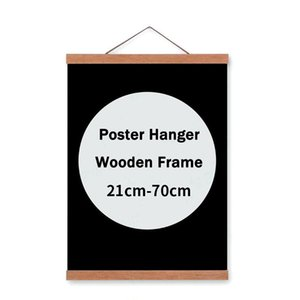 Magnetic Poster Hanger Frame For Canvas Painting Wall Art Print Photo Picture Artwork Teak Wooden Natural Reusable Home Decor C0927