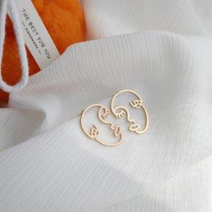 S925 Silber Nadel matten Gesicht der Frauen einfach übertrieben und Allgleiches Ohrringe elegante Persönlichkeit Trendsetter Ohrringe