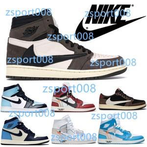 Nike air jordan retro 1 Travis Scott AJ 1 Obsidian UNC Mens shoes Turbo Green 1s Chicago Banned Basketball Sneakers