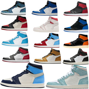 Nike Air Jordan Jumpman Hoch: 1 X-Men Basketball-Schuh-Obsidian ASG UNC purpurnen Farbton Fearless Gebannt Retroes 1s Chicago Frauen Weiß Grau Sportschuhe