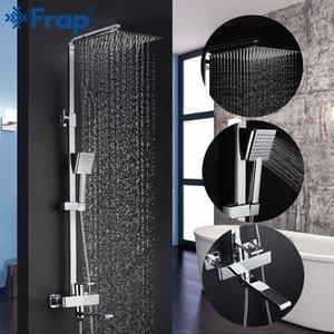 FRAP contemporáneo del baño de ducha de lluvia cabeza Taps Set Grifería de Calidad Torneira grifo mezclador Top koOCz