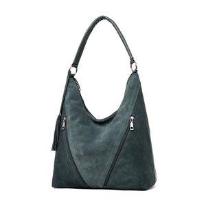 Green Fashion Suede PU Sacs à bandoulière en cuir Femme Femmes sac en cuir Designer Mesdames Grand Besaces Voor Moeder Sacs à main