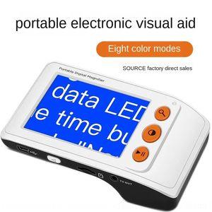 Yi vidro Hong Da 3,5 polegadas baixa ajuda eletrônica lendo Visão handheld elétron elétrons ampliação visuais Shun reta 8nOCG