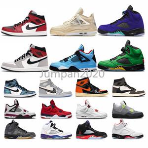 Nikeairjordanretro AJ1 NakeskinJordanienRetro Basketball-Schuhe 1 1s Licht rauchgrau UNC 4 4s rasta 5 5s alternative Traube 3 3s mens Frauen Turnschuhe