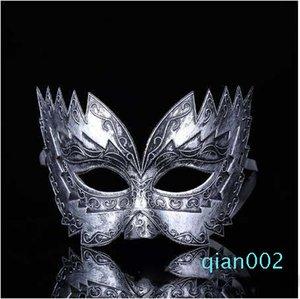 Roman Ball Mardi Filigree Filigree Homens Venetian Masks Cosplay Masquerade Laser Soldado Soldado Gras Manhãe Máscaras Guojd