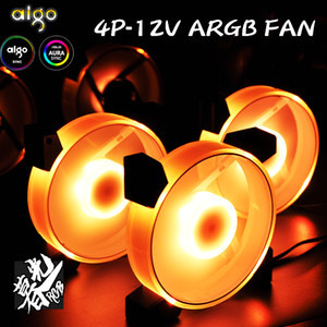 Aigo new RGB Fan 120mm LED PC Computer Case Fans RGB Quiet Remote 4pin12v Aura Sync Computer CPU Cooler Cooling Adjust Case Fan