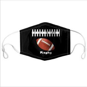 أقنعة الكرة الطباعة الوجه قناع الرياضة مكافحة الغبار يغطي الفم كرة القدم كرة السلة كرة الطائرة البيسبول طبع قناع قابل للغسل لمكافحة الضباب قناع DHD679
