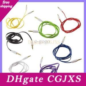 3 0,5 milímetro a 3 estendidos 0,5 milímetros Masculino colorido Aux Car Audio Cable 100pcs Áudio Headphone Stero Cabo / lot
