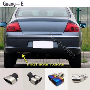 car stickers body cover muffler exterior back end pipe dedicate exhaust tip tail outlet ornament 1pcs For 407 2008-2020