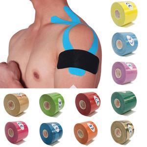 Kinesiología 5 cm de cinta de 5 m Atlética cinta de recuperación elástica Alivio rodillera rodilleras Apoyo para la gimnasia de vendaje