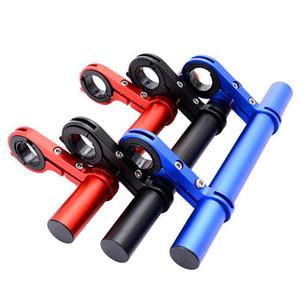 Wholesale- Multi Fahrradverlängerungsrahmen Doppel Pole Aluminium-Legierung Taschenlampe-Code Tischlampe Verlängerungsstütze Fahrradzubehör