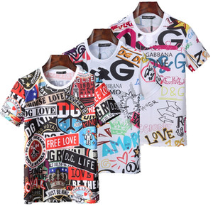 Kafatası 3D Baskılı Kristal Boncuk Tişört Erkek T-shirt Pamuk Nefes Kısa Sleeve Gömlek Siyah Erkek İnce Sport Shirt Gömlek