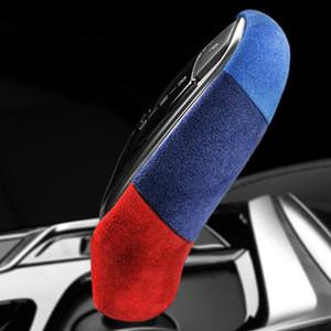 Alcantara Wrap кожа автомобилей Ручка переключения передач ABS крышки Украшение для BMW G30 G38 G32 G01 G02 G08 G11 G12 6GT X3 X4 5 7 Series