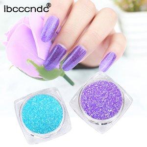 ibcccndc Nail Gel Holographic Glitters Brillante Miroir Poudre Superbe Nail Art manucure Pigment Chrome poussière Décorations Art