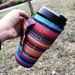 Mit Griff Neoprenhülse für 30 Unzen Tumbler Becher Tassen Wasserflasche Leopard Rainbow Sonnenblume Kaktus Print Cup Cover Deckel Bag Hüllen Tasche D81907