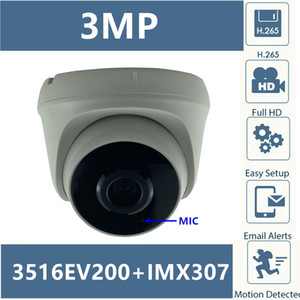 Integrate MIC Audio IP Dome Camera Sony IMX307+3516EV200 3MP 2304*1296 H.265 Low illumination Infrared IRC CMS XMEYE ONVIF P2P