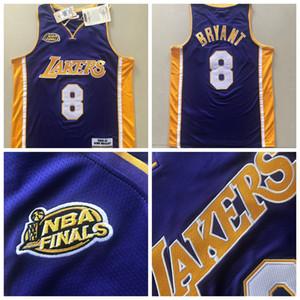Los Angeles uominiLakersKobe8Bryantnba jerseys viola pallacanestro Jersey Mitchell Ness 2000-01Finalecampione