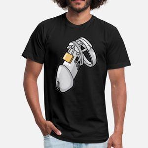 Male Chastity Dispositivo Cuckold Slave Sub Penis Gaiola camiseta homens famosos Camiseta S-Xxxl Formal edifício famoso Verão Família Estilo
