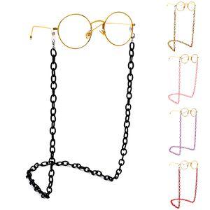 Fashion Women Eyeglass Chains Wide Acrylic Chains Anti-slip Eyewear Cord Holder Neck Strap Reading Glasses Rope
