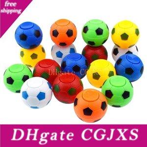 5cm * 4 .5cm Football Footable Fidget Spinner balle en plastique à la main Spinner Réduire le stress et augmenter les cadeaux de jouets Attention