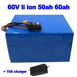 Li-Ion 60V 60Ah 50Ah Elektroroller Batterie Built-in 50A BMS 3000w für ebike großes Dreirad Gabelstapler AGV LKW + 10A Ladegerät