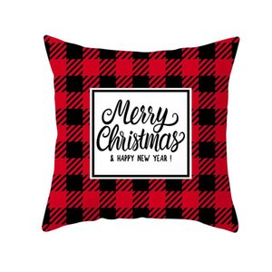 New Christmas Snowflake Pillowcase New Year Decor Santa Cushion Covers Home Sofa Pillow Case Xmas Pillow Cover Party Supplies DHB1219