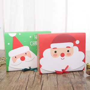 Weihnachten Papier Geschenk-Box Cartoon Weihnachtsmann Geschenkverpackungsschachtel Christmas Party Favor Box Tasche Kind-Süßigkeit-Kasten Xmas Party Supplies LJJA1990