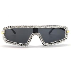 Diamond sunglasses female personality red tide ins net vibrato same paragraph sunglasses street shooting catwalk props photography magazine