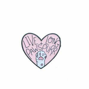 L'amour rose de coeur patte mignon petits drôles émail pour femmes PINS Broches fille hommes de cadeau de Noël Demin Shirt Décor Broche Métal Kawaii Badge