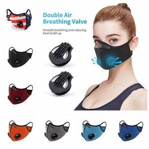 Ciclismo Máscaras Unisex Outdoor Sports Dust-proof respirável lavável Protective Bicycle Máscara ativado Máscaras Designer Carbono OWA774