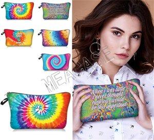 Women Makeup Cosmetic Bag Ladies Bag Tie-dye Storage Clutch Handbags D81208 Hand Bags Pouch Purses Letters Toiletry ZipPurses Fashi Akvtw