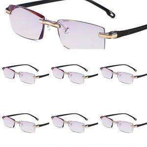 بدون إطار جديد تقليم المألوف قابل للتعديل المغلفة bluegilding الأنف خفيفة الوزن النظارات طويل النظر حامل قصو البصر الشيخوخي نظارات DF79j