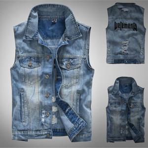 2020 neue Herrenmode Weste beiläufige Cowboy Jacken In Schulter Street Kleidung Tactical Weste Jacken und Mantel DP20