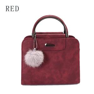 Designer Hangbags Women High Quality PU Hairball Handbag Lady's Fashion Shoulder Messenger Bag Luxury Bags