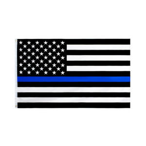 Stati Uniti Stock all'ingrosso 90 * 150cm Law Enforcement Officers USA US americano polizia sottile linea blu 3x5Fts Flag
