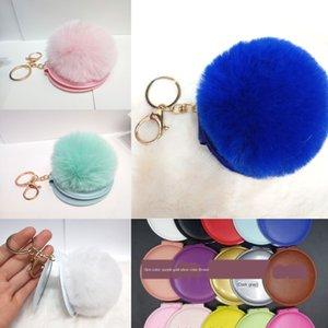 5MSDT Имитация Подвеска Cosmetic косметическим Rex мех кролика мяч зеркало для макияжа брелок творческий портативный портативный макияж складной двухсторонний