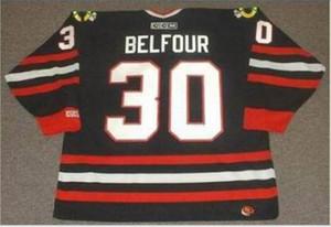 Özel Erkekler Gençlik kadınlar Vintage # 30 D Belfour Chicago Blackhawks 1992,1996 CCM Hockey Jersey Boyut S-5XL veya özel herhangi bir ad veya numara