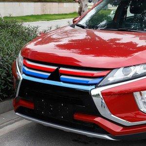 Araba Şekillendirme 5adet ABS Plastik Araç Ön Merkezi Grille Izgara Şerit Dekorasyon Kapak Trim için Mitsubishi Eclipse Çapraz 2018 2019 Mhmt #