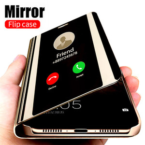 Smart Mirror Case pour Samsung flip Galaxy Note 20 Ultra 10 S20 S10 S9 S8 S7 plus Bord A50 A51 A70 A71 A10 A20 A30 Note 8 9 Couverture