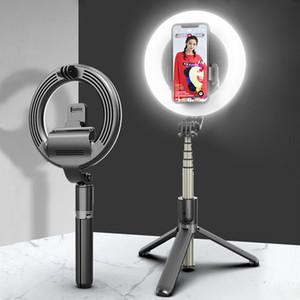 Monopiede allungabile Camera Tripod L07 selfie Light Ring Turismo selfie-Stick Bluetooth remoto luci di riempimento del LED mini palmare senza fili