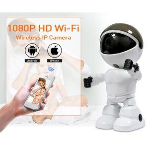 Wireless Robot Camera Funny cute WIFI IP Camera Baby Monitor PTZ Remote Surveillance Two-Way Audio 1080P IR Night Vision