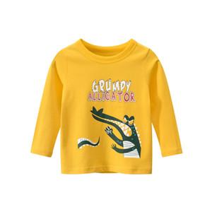 Осень Детские длинными рукавами одежды весна Дети Новизна Вельвет моды футболки Черный Желтый Серый Зеленый Красный Мальчики Девочки Топы