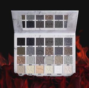 Le plus récent JS Crémation 24 EYESHADOW palette de couleurs brun gris mat Poudre Pressée J étoiles de haute qualité Ombres à paupières