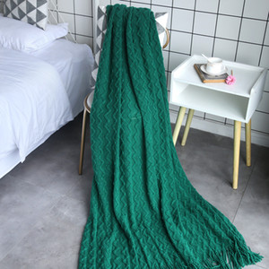 Home Soft Things Knitted Tweed Throw Blanket for Bed Couch Chair Travel Camping Cozy Lightweight Drop Shopping