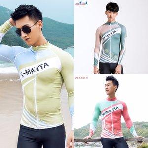 aptitud superior de protección solar cremallera ciclismo buceo buceo en bicicleta el juego del traje de baño de la playa de los hombres INMERSIÓN SAIL