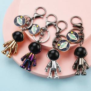 4 цвета Акриловых роботы Spaceman брелок Женщина Прекрасная Вселенная Planet Key Chain Jewelry сумка Подвеска Брелок для девочек подарка