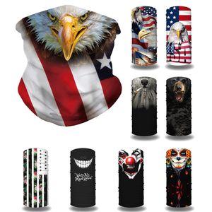 Eagle-Gesichts-Schädel-Maske Zauber Kopftuch Reiten Radfahren Adler Gesichtsmaske Amerika-Flaggen-Gesicht Kopftuch Sport Stirnband Freien Verschiffen AHF747