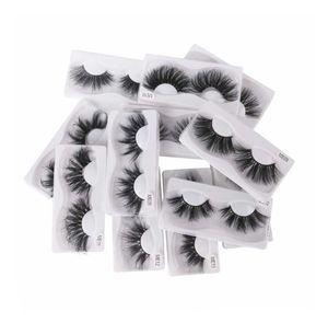 2020 Newest 25MM 3D Mink Eyelash False Eyelashes 100% Mink Eyelash Extension 5d Mink Lashes Thick Long Dramatic Eye Lashes Fast Ship