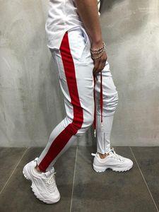 Zipper Designer Pants Sweatpant Sports Wear Mens Hiphop Dancing Pants Street Jogger Pantlones Fashion Pencil